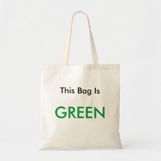 This Bag Is, GREEN