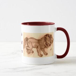 This beast bites sepia mug