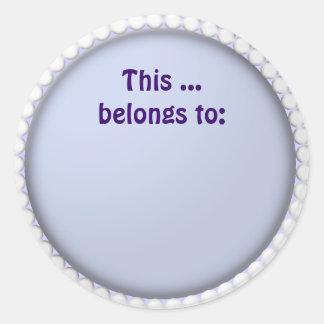 this belongs to round sticker