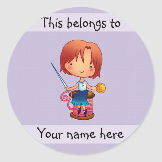 This belongs to sewing girl sticker