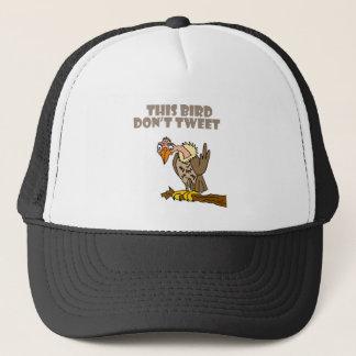 This Bird Don't Tweet Buzzard Cartoon Trucker Hat