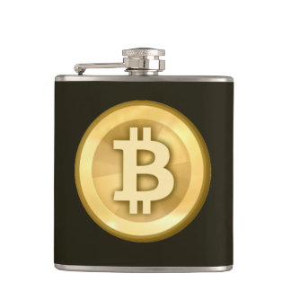 This bitcoin logo makes me think - hip flask