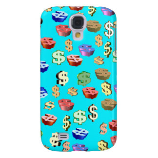 This Blue & Dollar $ Signs Galaxy S4 Covers