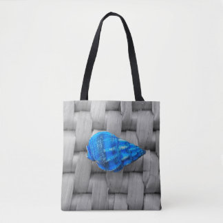 This Blue Sea Shell Tote Bag