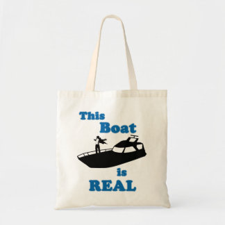 This Boat is Real Budget Tote Bag