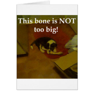 This bone greeting card