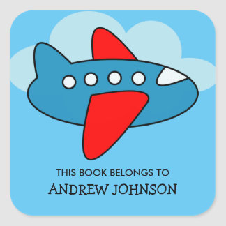 This book belongs to airplane bookplate stickers