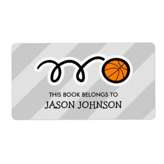 This book belongs to basketball bookplate labels
