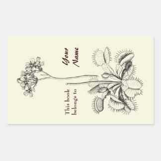 This Book Belongs To Floral Rectangular Sticker
