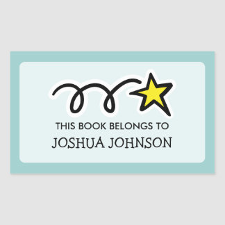 This book belongs to label sticker | Shooting star