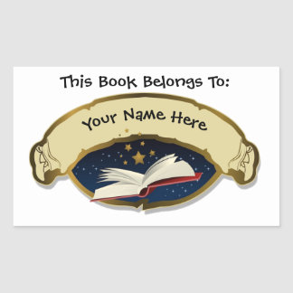 """""""This Book Belongs To"""" Personalized Library Labels"""