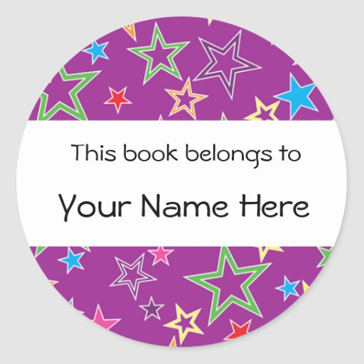 This Book Belongs To Personalized Sticker