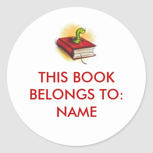This Book Belongs To: Sticker