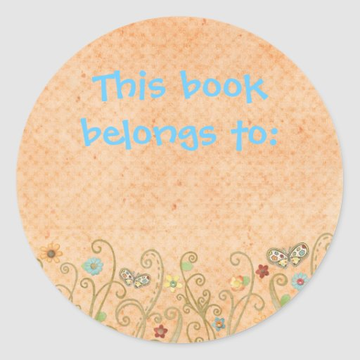 This book belongs to sticker