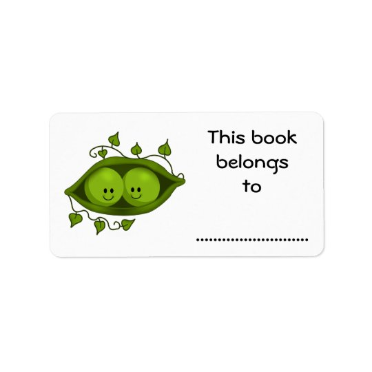 This Book Belongs To, Two Peas In A Pod Address Label