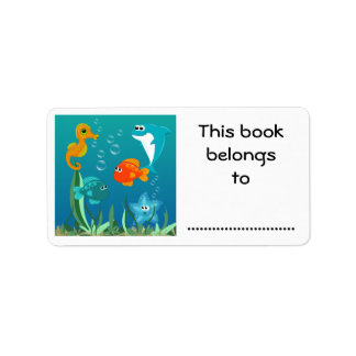 This Book Belongs To, Under the Sea Label