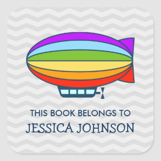 This book belongs to zeppelin bookplate stickers