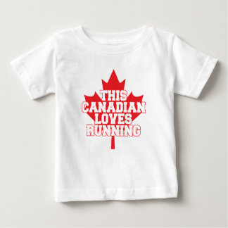 This Canadian Loves Running! Baby T-Shirt