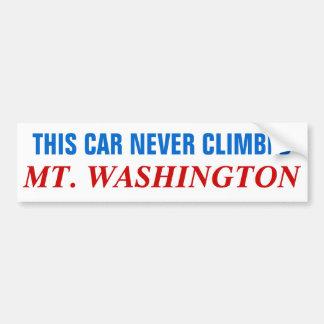This Car Never Climbed Mt Washington Bumper Sticker