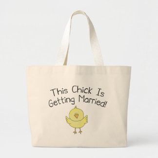 This Chick Is Getting Married Large Tote Bag