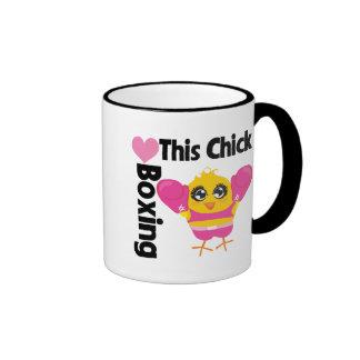 This Chick Loves Boxing Ringer Mug
