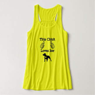 This Chick Loves her Pit Bull Singlet