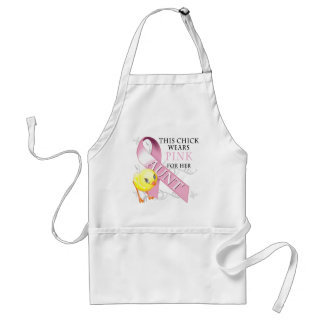 This Chick Wears Pink for her Aunt Standard Apron