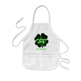 This clover feels lucky, how about you? kids apron