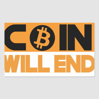 This Coin Will end  poverty Rectangular Sticker