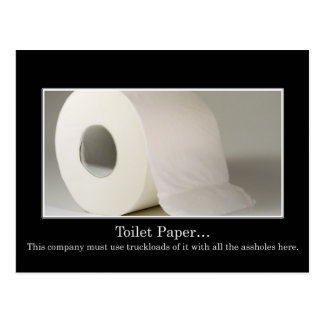This company must use a lot of toilet paper postcard