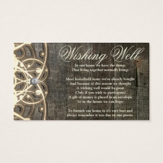 This Country Lace and Wood Rustic Wishing Well Business Card