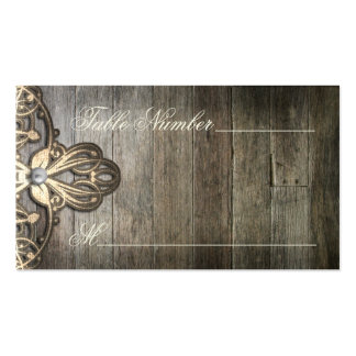 This Country Lace and Wood Table Number Cards Double-Sided Standard Business Cards (Pack Of 100)