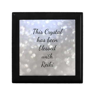 This crystal has been blessed with Reiki Small Square Gift Box