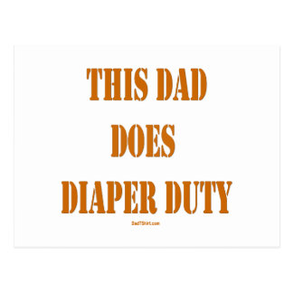 THIS DAD DOES DIAPER DUTY POSTCARDS