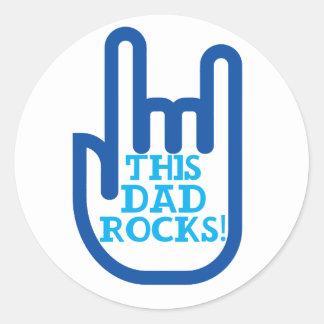 This Dad Rocks! Round Sticker