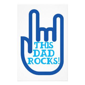 This Dad Rocks! Stationery