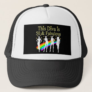 THIS DIVA IS 50 AND FABULOUS 50TH BIRTHDAY CAP