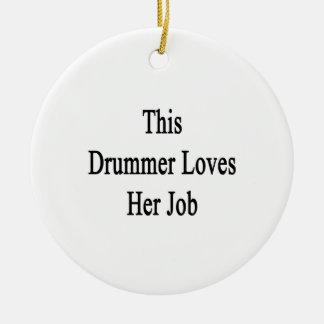 This Drummer Loves Her Job Round Ceramic Decoration