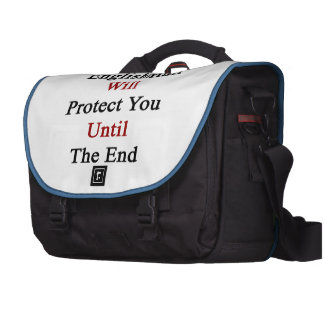 This Englishman Will Protect You Until The End Laptop Bags