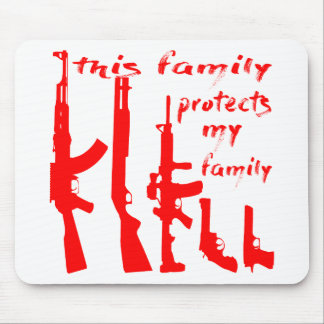 This Family Protects My Family Mouse Pad