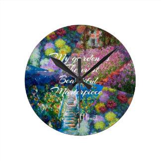 This garden is a masterpiece round clock