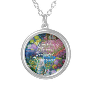 This garden is a masterpiece silver plated necklace