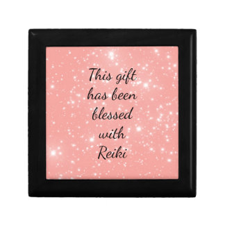 This gift has been blessed with Reiki Small Square Gift Box