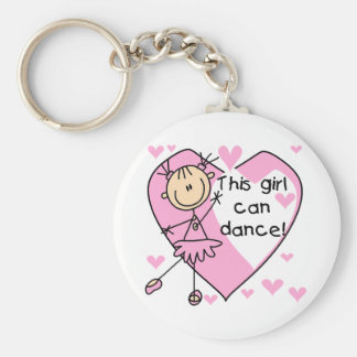 This Girl Can Dance T-shirts and Gifts Basic Round Button Key Ring