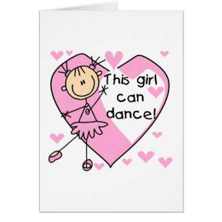 This Girl Can Dance T-shirts and Gifts Greeting Card