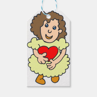 This girl has a big heart gift tags