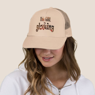 This Girl is Glowing Trucker Hat