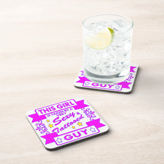 This Girl Is Taken By Sexy Tattooed Guy Coaster