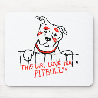 This girl love her pitbull mouse pad