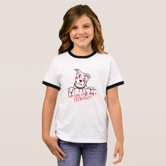 This girl love her pitbull ringer T-Shirt